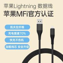 乐物 苹果Lightning 数据线 2m 黑色
